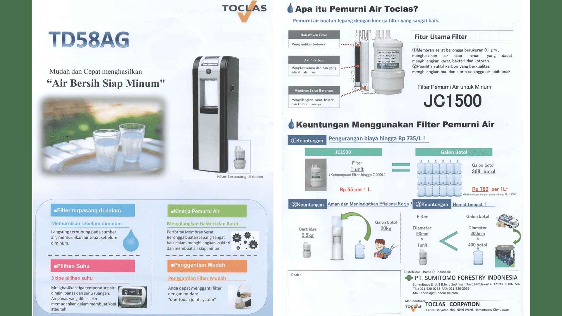 Filter Air Teknologi Canggih Toclas