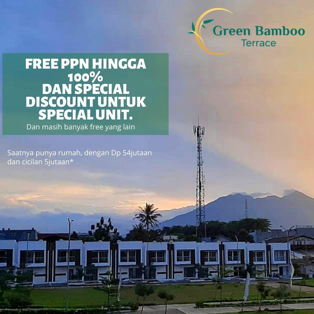 Free PPN Hingga 100%, Hanya di perumahan Green Bamboo Terrace